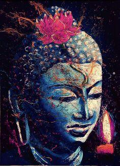 Buddha~~The quieter you become Buddha Zen, Gautama Buddha, Buddha Buddhism, Buddhist Art, Buddha Life, Arte Yin Yang, Yoga Studio Design, Buddha Painting, Taoism