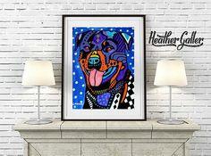 Rottweiler Art Dog Art Art Print Poster by Heather Galler (HG807)