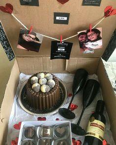 Birthday Gifts For Boyfriend Diy, Cute Boyfriend Gifts, Cute Birthday Gift, Birthday Gifts For Sister, Anniversary Gifts For Him, Diy Birthday, Diy Presents For Boyfriend, Birthday Surprises For Him, Birthday Candy