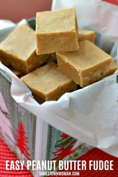 This melt in your mouth foolproof easy microwave Peanut Butter Fudge has four ingredients and is prepped in about ten minutes. Microwave Peanut Butter Fudge, Peanut Butter Recipes, Fudge Recipes, Best Dessert Recipes, Candy Recipes, Easy Desserts, Sweet Recipes, Holiday Recipes, Cookie Recipes