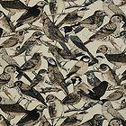 Timeless Treasures Birdsong Bird Song Packed Bird Toile Beige Cotton Fabric /Yd - #cotton, beige/, BIRD, Birdsong, fabric, Packed, Song, Timeless, TOILE, Treasures