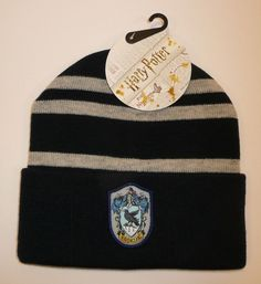 b1d4253c644 Ravenclaw - Harry Potter Beanie Hat Winter Warm Cosplay House Raven Claw  Patch  Bioworld
