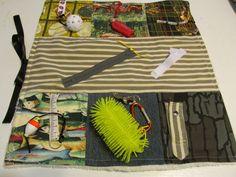 Alzheimer's Fidget Blanket Sportsman  Alzheimer's /  Dementia /  Autism / Restless Fingers Sensory Blanket