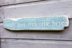 Driftwood Sign, Beach House Decor,  Reclaimed Wood, Rustic Word Art on Etsy, $50.80