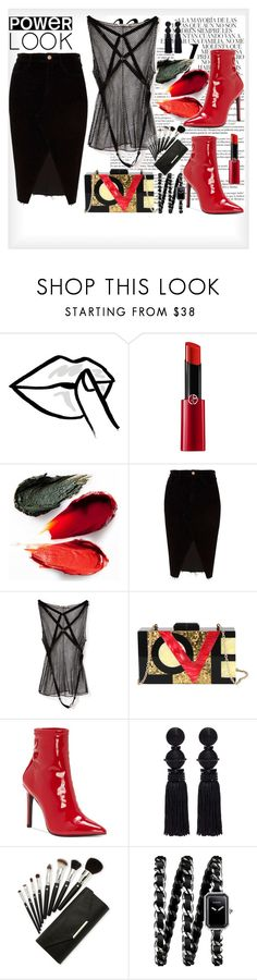 """""""55"""" by ingridient ❤ liked on Polyvore featuring HUISHAN ZHANG, Whiteley, Giorgio Armani, Rituel de Fille, River Island, Nina Ricci, Diophy, Jessica Simpson, Oscar de la Renta and Chanel"""