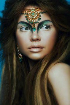Fantasy Eyes Make-up Makeup Inspo, Makeup Inspiration, Beauty Makeup, Eye Makeup, Makeup Ideas, Exotic Makeup, Witch Makeup, Fairy Makeup, Makeup Geek