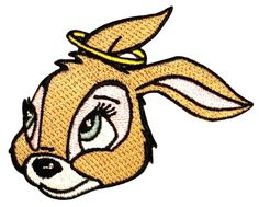Halo Bunny Angel Rabbit Good Pet Artist Kozik Embroidered Iron On Applique Patch Halloween Cosplay, Halloween Costumes, Michael Mell, Be More Chill, Iron On Applique, Iron On Patches, Tigger, Bunny, Cos Play