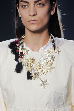 Dries Van Noten gold and silver star necklace #DriesVanNoten #gold #silver
