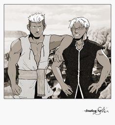 FMA Scar and scar's brother, fullmetal alchemist brotherhood