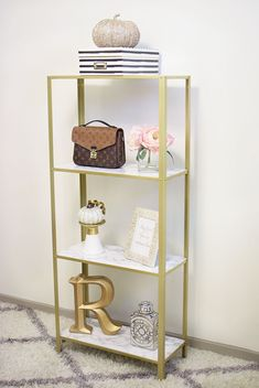 Ikea Shelf Hack, Ikea Shelves, Ikea Hack, Living Room Shelves, Shelves In Bedroom, Ladder Shelf Decor, Home Office Decor, Office Ideas, Home Decor