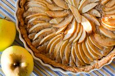 Norman apple tart top.  This is easy to make and tastes so good