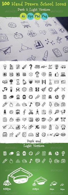 Hand+Drawn+School+Icons