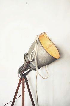 Handmade tripod construction stage lamp