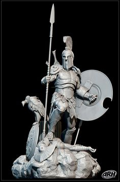 Ares Greek God of War- there he is struttin' it again- you should see him in Armani!
