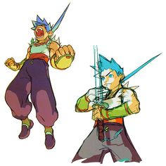 Ryu Action Concepts - Characters & Art - Breath of Fire IV