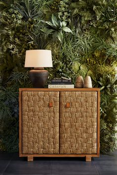 A living wall captures the organic and tranquil sensibility of Ralph Lauren Home's Spring 2016 Black Palms collection.