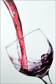 Tipsy Too, by Todd Ford Wine Painting, Painting & Drawing, Water Drawing, Drawing Hands, Hyperrealistic Art, Pouring Wine, Cute Love Cartoons, Wine Design, Wine Art