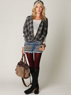 Yup I rock the cut offs with leggings and boots! And an oversized sweater of course!