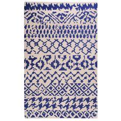 Castleton Home Hand-Woven Blue Area Rug