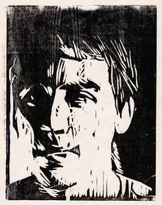 Corey Egbert Illustration: Self Portrait Woodcut