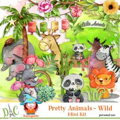 Pretty animals - Wild by kastagnette Pretty Animals, Snoopy, Kit, Fictional Characters, Fantasy Characters