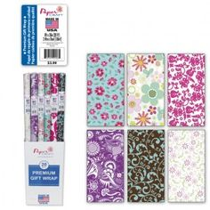 Beautiful floral gift wrap selection