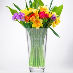 Personalised Conical Vase - Maid Of Honour Classic Frame