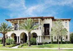 Mediterranean Home Plan with Magnificent Ceilings Plan Style:Mediterranean, Florida, Spanish Total Living sq. Spanish Style Homes, Spanish House, Spanish Revival, Tropical Home Decor, Tropical Houses, Built In Buffet, Mediterranean House Plans, Mediterranean Style, Ceiling Plan