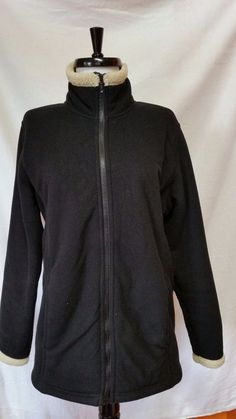 Peter Storm Black Fleece Jacket Faux Fur Full Zip Heavyweight Sheepskin  M 14UK #PETERSTORM #FleeceJacket