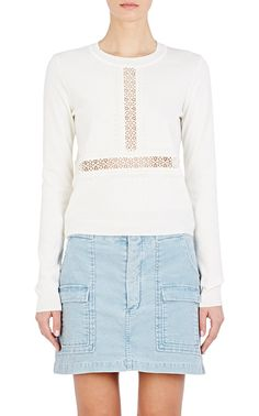 Lace-Inset Sweater