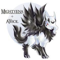 Mightyena X Mega Absol by Seoxys6.deviantart.com on @DeviantArt