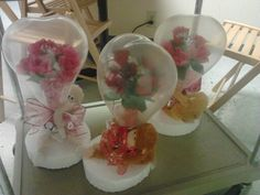 Valentine stuffed flower balloons...created by Niftygiftsbystacy