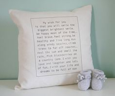 personalised baby wish cushion by modo creative | notonthehighstreet.com
