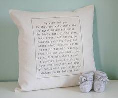 personalised baby wish cushion by modo creative | notonthehighstreet.com