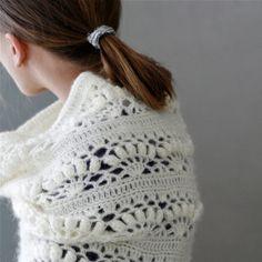 Crochet White Mohair Oversized Cowl Iris von PatternsbyMarianneS