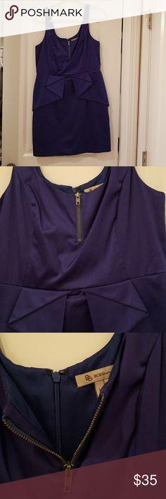 Royal Blue BCBG dress Royal Blue mini dress with peplum like detail BCBGeneration Dresses Mini
