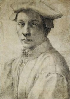 Michelangelo Buonarroti - Renaissance - Drawing - Portrait of Andrea Quaratesi, Renaissance Kunst, Die Renaissance, Italian Renaissance, Michelangelo, Caravaggio, Art Occidental, Italian Sculptors, Western Art, British Museum