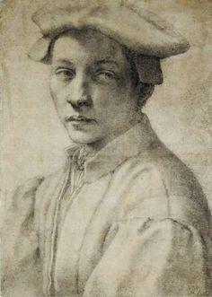 Michelangelo Buonarroti - Portrait of Andrea Quaratesi, c.1532