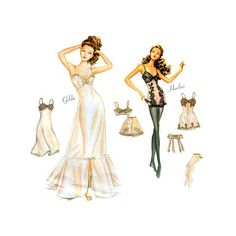 """Simplicity Couturier Fashion Doll Clothes Sewing Pattern 9527 Sexy Lingerie for 15 1/2"""" Fashion Dolls Uncut FF on Etsy, $48.50"""