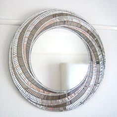 Bronze Mirror Art Mosaic Mirror Art Deco Wall Mirror by MirrorEnvy
