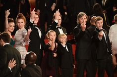 """Viggo Mortensen Photos Photos - (R-L) The cast of the movie 'Captain Fantastic' actress Shree Crooks, actor George MacKay, actress Annalise Basso, director Matt Ross, actor Viggo Mortensen, actress Samantha Isler and actor Nicholas Hamilton make gesture at the photographers at the """"Personal Shopper"""" premiere during the 69th annual Cannes Film Festival at the Palais des Festivals on May 17, 2016 in Cannes, France. - 'Personal Shopper' - Red Carpet Arrivals - The 69th Annual Cannes Film…"""