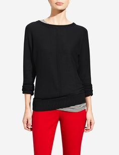Mixed-Gauge Sweater   Women's Sweaters   THE LIMITED