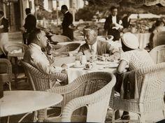 H.G.Wells and Charlie Chaplin Juan-les-Pins - French Riviera 1931