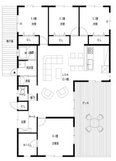 「30坪 間取り 平屋」の画像検索結果 Craftsman Floor Plans, House Floor Plans, Modern Landscaping, Architecture Plan, Apartment Design, Ideal Home, Layout, House Design, How To Plan