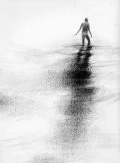 Haunting Figure Drawing Water Wading Gothic by ClaraLieuFineArt, $40.00