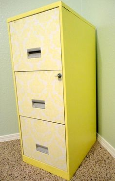 DIY pretty-up a filing cabinet!