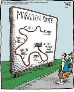 Modern marathon running enthusiasts may not necessarily know everything about marathon running's past, but one thing is for sure; any marathon runner is aware that the long-distance running event runs kilometers, or 26 miles, 385 yards, geared to. Sport Motivation, Marathon Motivation, Funny Motivation, Fitness Motivation, Marathon Quotes, Daily Motivation, Fitness Workouts, Running Workouts, Fun Workouts