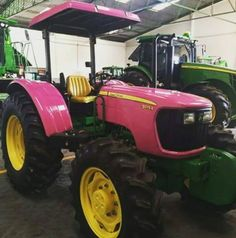 regram @farm_machinery #JohnDeere 5075E #pink