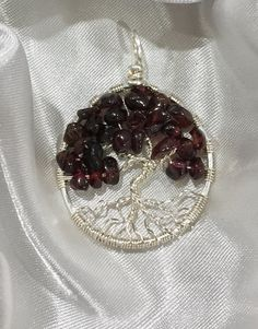 Garnet Gemstone Wire Wrapped Tree of Life by eJewelryJunction