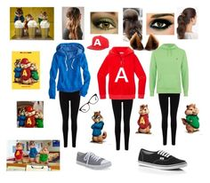 """""""Alvin and the Chipmunks Halloween Costume"""" by demented-dino ❤ liked on Polyvore"""